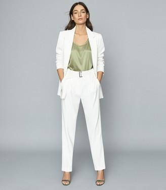 Reiss Mia - Fluid Single Breasted Blazer in White