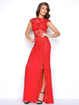 Mac Duggal Cap Sleeves Long Evening Dress 1903M