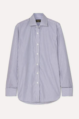 Emma Willis Striped Cotton-poplin Shirt - Navy