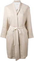 Closed roped belted coat