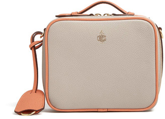 Mark Cross Mini Madison Color Block Leather Top Handle Bag