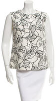 Giambattista Valli Abstract Print Sleeveless Top w/ Tags