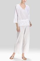 Natori Cotton Voile With Applique PJ