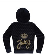 Juicy Couture Girls Logo Velour Juicy Stud Script Robertson Jacket