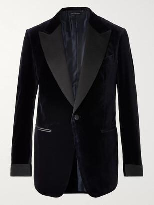 Tom Ford Shelton Slim-Fit Cotton-Velvet Tuxedo Jacket