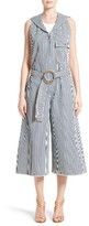 Chloé Women's Stripe Denim Overalls