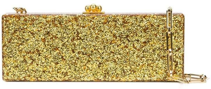 Edie Parker Flavia metallic clutch bag
