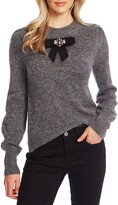 CeCe Jeweled Bow Detail Sweater