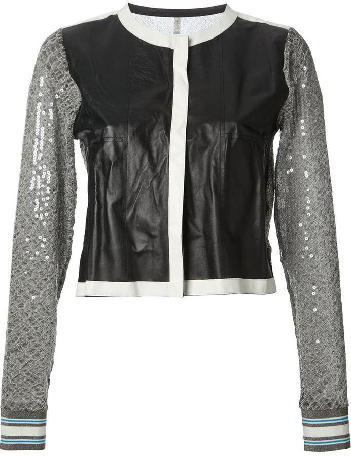Aviu sequin sleeve jacket
