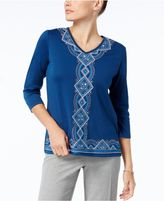 Alfred Dunner Arizona Sky Embellished Top