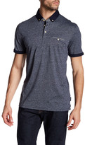 Ted Baker Rolled Cuff Short Sleeve Polo Shirt