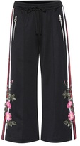 Gucci Embroidered wide-leg trousers