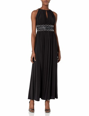 R & M Richards R&M Richards Women's Beaded Waist Gown