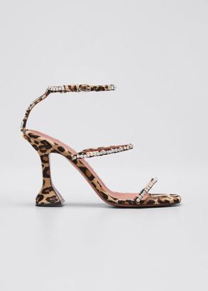 Amina Muaddi Gilda Suede and Crystal Sandals