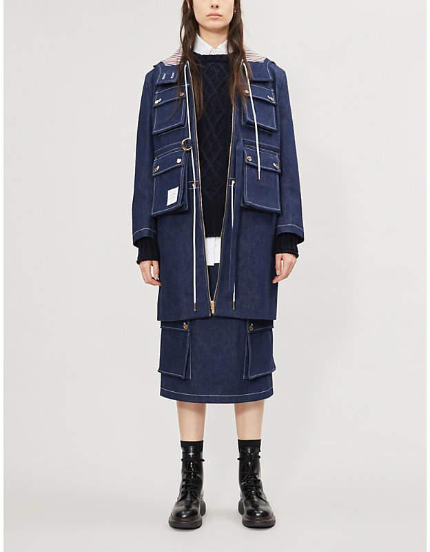 Thom Browne Hooded denim jacket