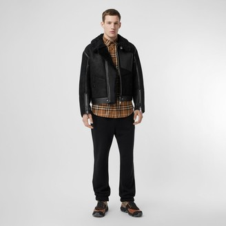 Burberry Shearling and Leather Jacket