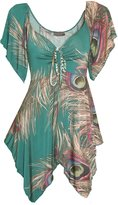 Lt2 Funfash New Slimming Jade Green Peacock Plus Size Top Shirt Blouse 1x 18 20