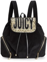 Juicy Couture Outlet - PRETTY IN PARADISE VELOUR BACKPACK