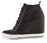 DKNY Grommet Wedge Sneakers