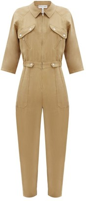 Apiece Apart Amelia Zipped Linen-blend Jumpsuit - Tan