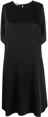 Stella McCartney Draped-Back Sleeveless Dress