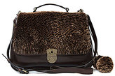 Patricia Nash Laser Cut Sherpa Collection Cadiz Top Handle Sherpa Satchel