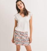 Promod Short jacquard skirt