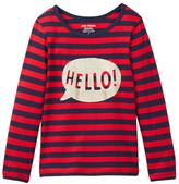 Joe Fresh Graphic Stripe Tee (Toddler & Little Girls)