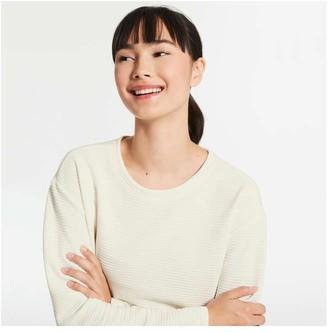 Joe Fresh Women's Texture Pullover, Off White (Size XL)