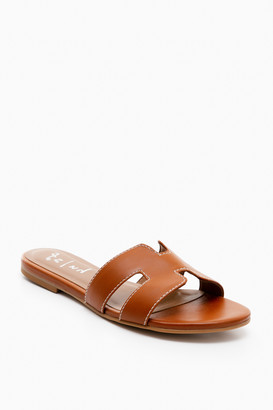 French Sole Cognac Leather Alibi Sandals