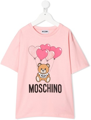 MOSCHINO BAMBINO Teddy Bear relaxed-fit T-shirt