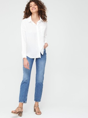 Very Relaxed Longline Shirt - Ivory