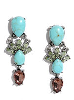 LuLu*s Sweet Smile Turquoise Rhinestone Earrings