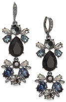 Givenchy Hematite-Tone Crystal Drama Drop Earrings