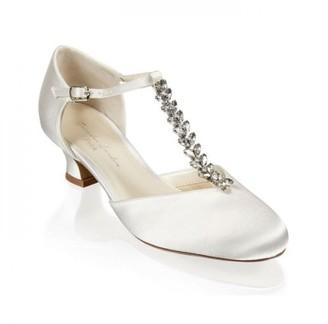 Paradox London Satin 'Alva' Trim Detal Low Heel Shoe