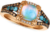 LeVian Le Vian Chocolatier Multi-Gemstone (7/8 ct. t.w.) & Diamond (1/4 ct. t.w.) Ring in 14k Rose Gold