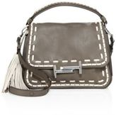 Tod's Stitch-Detailed Double T Leather Messenger Bag