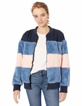 Pink Platinum Women's Faux Fur Bomber Jacket
