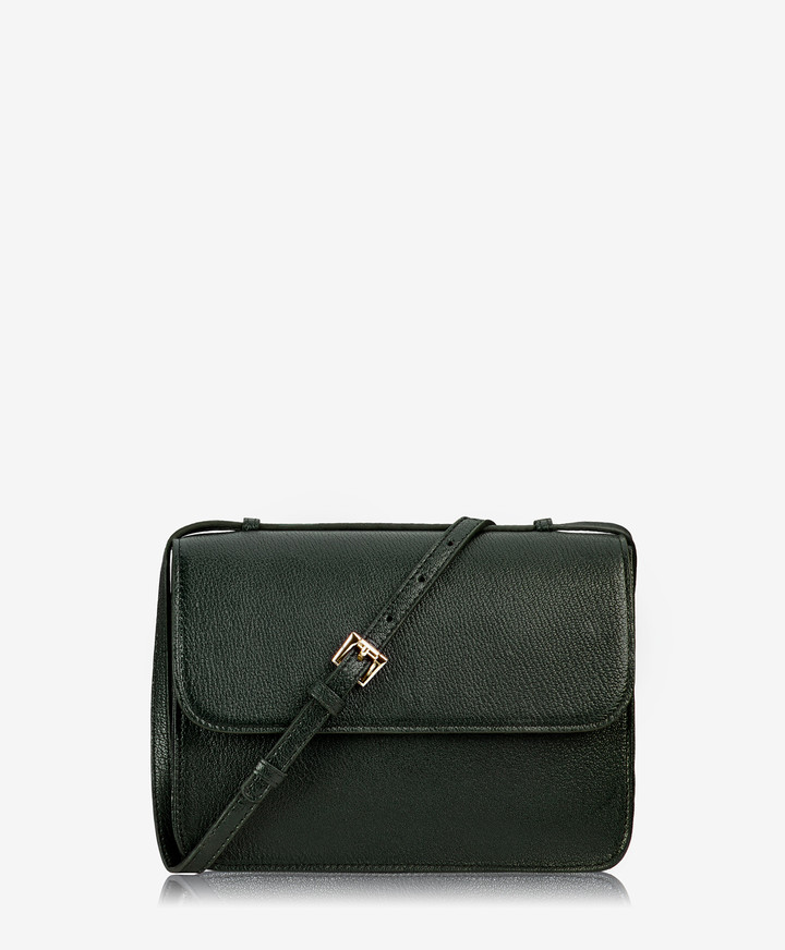 GiGi New York Abbot Crossbody, Forest Green French Goatskin