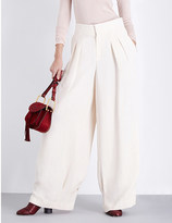 Chloé Wide-leg crepe trousers