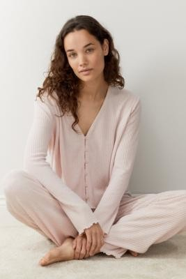 Out From Under Spacedye Flood Lounge Pants - Pink XS at Urban Outfitters