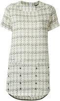 Andrea Bogosian - tweed shift dress - women - Acrylic/Polyester/Wool - P
