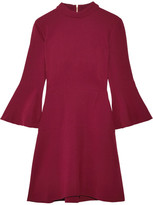 Rachel Zoe Califa Crepe Turtleneck Mini Dress - Burgundy