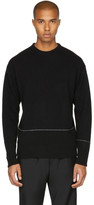 John Elliott Black Baseline Crewneck Sweater