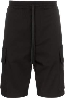 Neil Barrett knee length drawstring cargo shorts