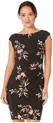 Lauren Ralph Lauren Petite Novellina Dress (Black/Pink/Multi) Women's Dress
