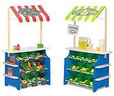 Melissa & Doug ; Wooden Grocery Store and Lemonade Stand - Reversible Awn...