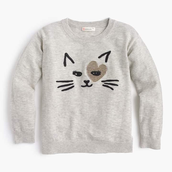 J.Crew Girls' kitty love popover sweater