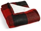 Martha Stewart Collection CLOSEOUT! Martha Stewart Collection Sweater-Knit Buffalo-Plaid Throw