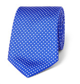 Turnbull & Asser 6cm Polka-dot Silk Tie - Blue